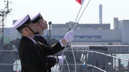 日本最新加贺号航空母舰引渡式