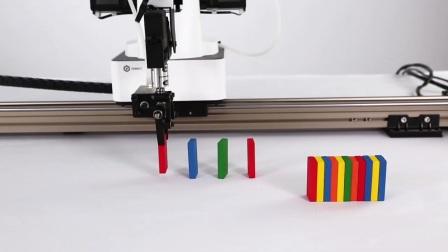 DOBOT魔术师 - 机械臂使用滑轨玩转多米諾骨牌|越疆科技