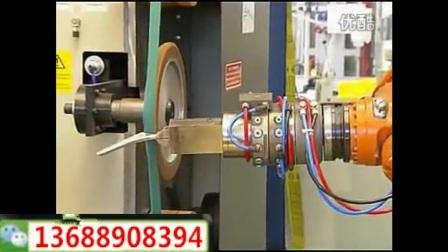机器人上下料和抛光打磨一体机,自动化抛光打磨设备,KUKA机器人研磨和抛光的植入,fobrobot,mp4.