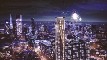 伦敦市中心摩天地标住宅项目「Principal Tower」