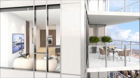 Park Boulevard高层豪华住宅项目 客厅动图展示