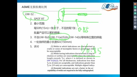 2017-4-27 ASME VIII-1 无损检测比例-RT级别