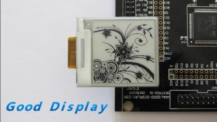 GDEP015OC1 1.54寸电子纸局刷演示