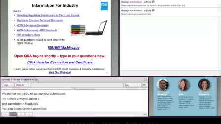 网络系列讲座: 简化新药申请(ANDA)的电子提交要求:你准备好了吗?