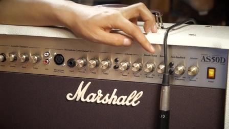 马歇尔经典原声音箱AS50D左轮评测
