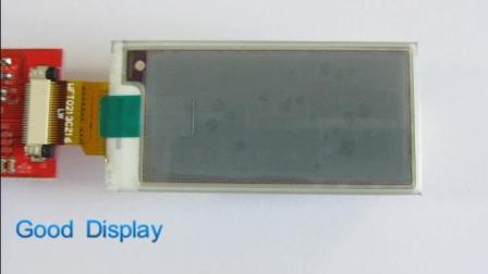 GDEW0213Z16 2.13寸三色电子纸刷新视频演示