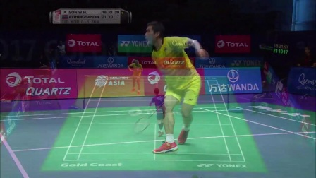 2017苏迪曼杯半决赛韩国队VS泰国队集锦