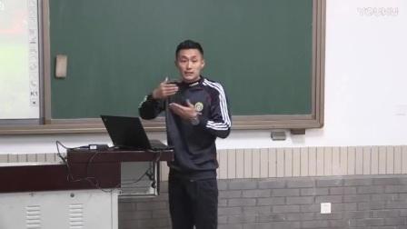 人教版八年级体育《足球―脚背外侧运球与脚内侧运球相结合的技术》说课视频,北京市首届中小学青年教师教学说课大赛