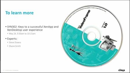 Citrix Synergy - Tech update XenApp & XenDesktop
