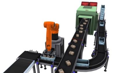 KUKASim软件 模拟机器人拣放