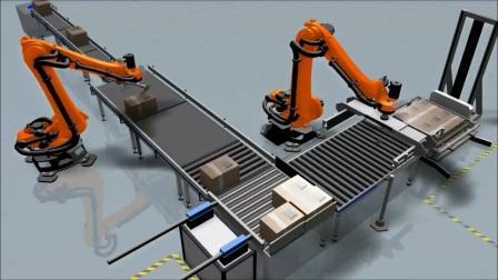 KUKASim软件 模拟机器人堆垛箱子