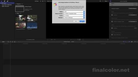 final cut pro x 10.3 资源库整理