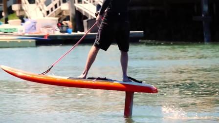纯电动冲浪板征服女神! 不会玩冲浪的人也可以乘风破浪!