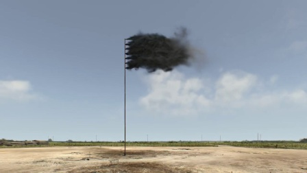 Artist John Gerrard creates virtual flag of billowing black smoke