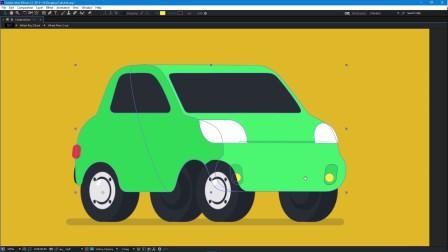 AE如何使用Duik脚本制作二维扁平化汽车动画