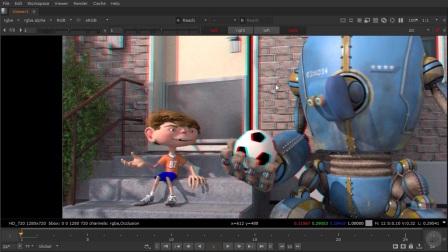 NUKE-3D立体电影教程06探讨Convergence混合效果