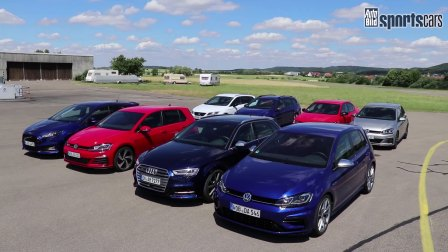 直线加速赛 Golf vs Focus ST vs Octavia RS vs Cupra 300