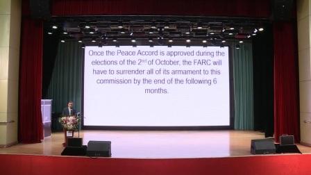 第三届和平节哥伦比亚驻华大使Oscar Rueda演讲