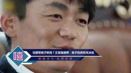 马蓉带孩子移民?王宝强律师:孩子抚养权未决定
