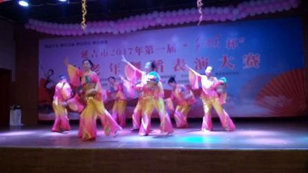 延吉市枫叶艺术团演出的花篮舞《美丽的心情》VID 20170804 105925