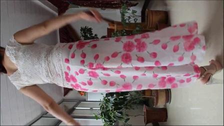荣蓉广场舞  一曲红尘 长裙自由舞摇摆 健身舞