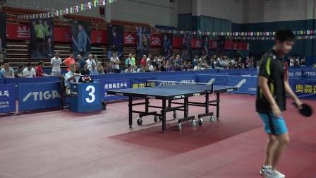 2017第十三届STIGA杯全国乒乓球巡回赛 成都赛区  中青组团体冠亚军决赛第二场  任振宇VS于世博