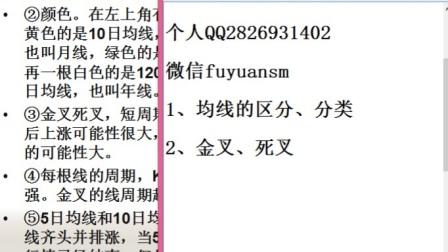 新股民基础培训第一课:MA均线