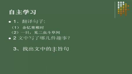 初中_语文_古文赏析——《童趣》微课
