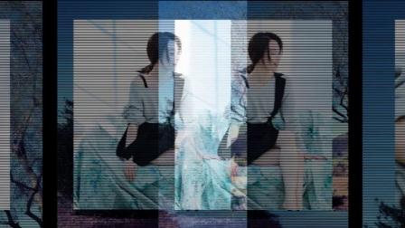 女演员陈数斜肩短裙性感美腿优雅写真