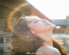 组图:模特新川优爱拍摄写真亲近自然清纯迷人