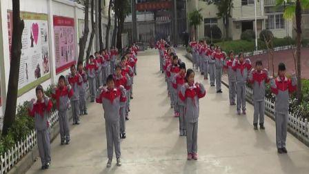 新洲区邾城街第三小学广播体操参赛视频