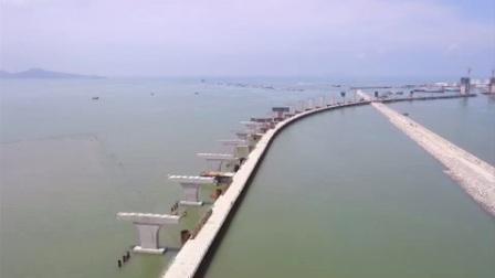 茂名电白区博贺湾大桥航拍