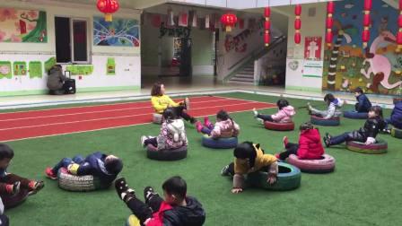 重庆石油大地幼儿园中班高明英老师体育活动教学视频《轮胎乐》0