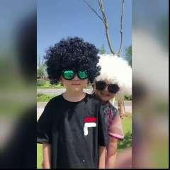 儿童爆炸头假髮彩色成人球迷装扮婚庆搞笑小丑