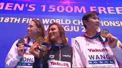 女子1500米自由泳决赛颁奖典礼-竞技体育该有的美