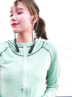 LMK无线蓝牙耳机跑步运动插卡双耳后挂颈式大容