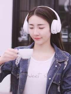 无线蓝牙耳机头戴式游戏运动跑步插卡音乐重低