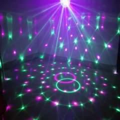 七彩射灯自动变色卧室彩灯闪灯灯串声控旋转音