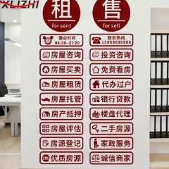 君晓天云房产中介墙贴海报玻璃门贴纸二手房屋