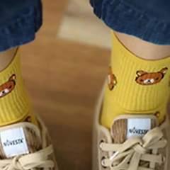 君晓天云袜子女中筒袜女士运动袜卡通韩版学院
