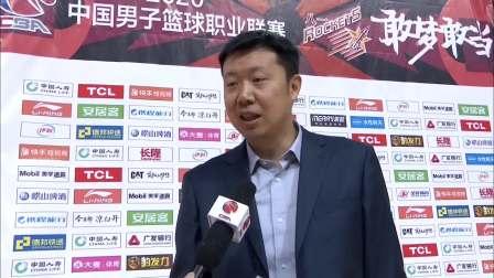 教练采访-八一队教练王治郅:今天篮板球失误太