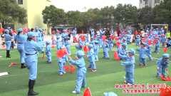 蓝山县第一幼儿园《红星闪闪》大型爱国军事拓