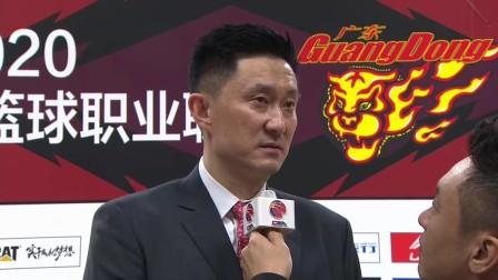 赛后采访-广东杜锋:对方开局投篮坚决,最终我方掌握局势