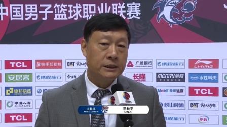 教练采访-上海教练李秋平:进攻命中率不足,防守不错