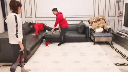 高能版!杨威杨阳洋上演冠军级小推车
