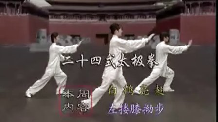 24式太极拳分解教学3-4