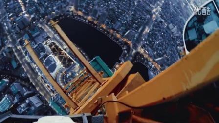 国外牛人挑战攀爬釜山乐天世界大厦555米高度