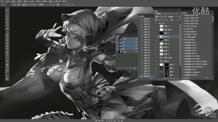 元素动力冯伟 - 角色设计黑白全程演示视频