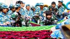 奥斯卡双语幼儿园大型户外军事演习亲子活动