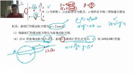 绩加 高二数学4次课 极坐标.参数方程与不等式选讲 王梦抒
